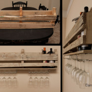 DIY: Wine Rack with Stemware Storage
