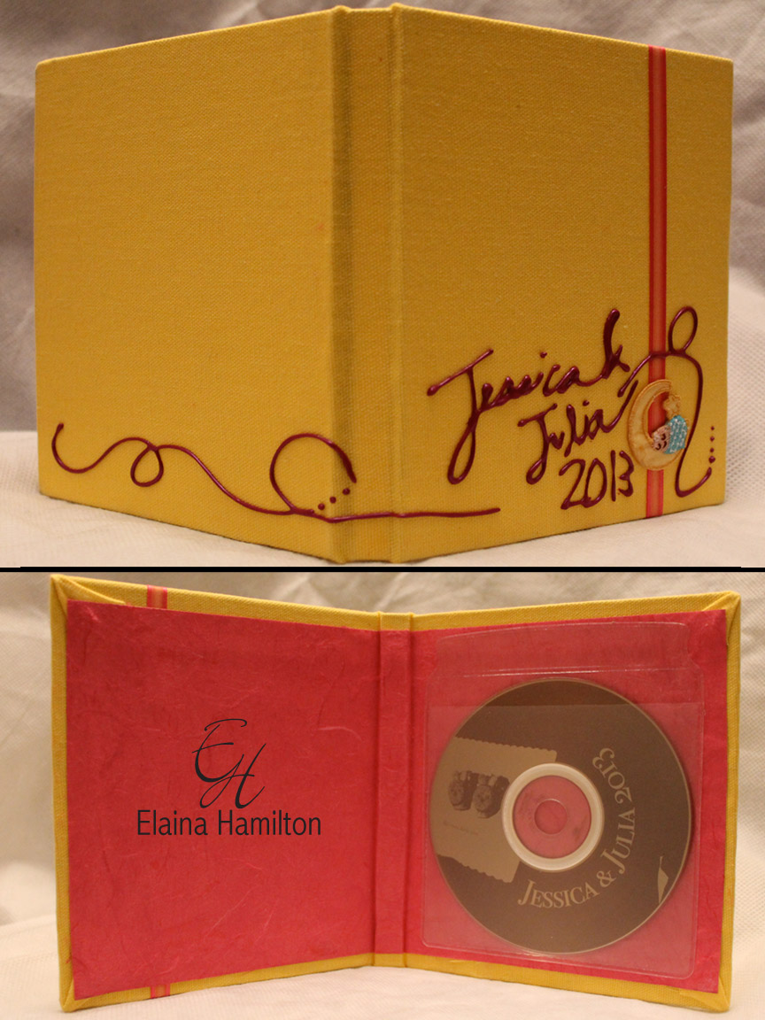Handcrafted: Disc Cover for Julia Nicole's Newborn Photos