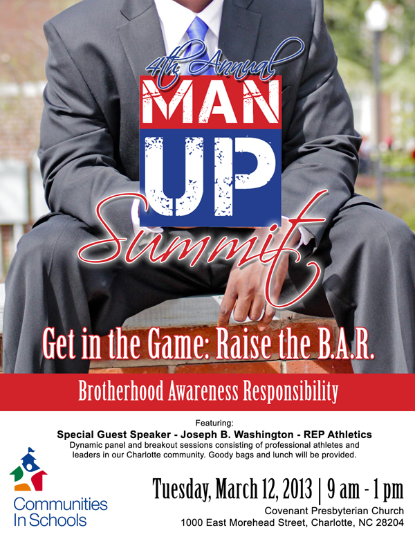 Graphics: Man Up Flyer